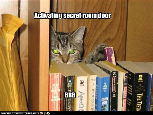 Activating secret room door