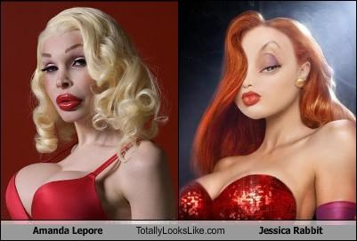 Amanda Lepore Totally Looks Like Jessica Rabbit