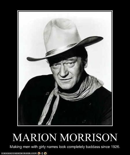 classic hollywood,john wayne,marion morrison,real names,tough guy,westerns