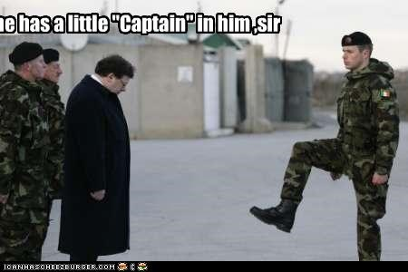 "he has a little ""Captain"" in him ,sir"