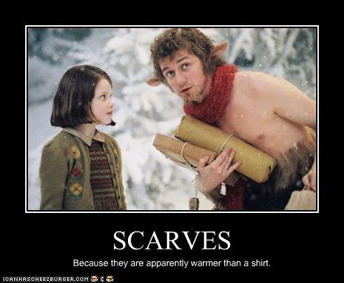 georgie henley,james mcavoy,lion,scarf,shirt