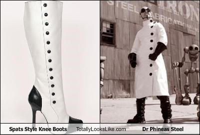 Spats Style Knee Boots Totally Looks Like Dr Phineas Steel
