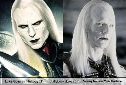 Luke Goss in 'Hellboy II' Totally Looks Like Jeremy Irons in 'Time Machine'
