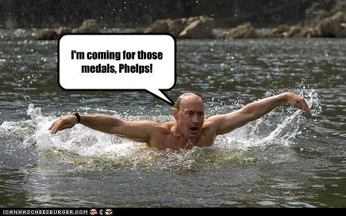 I'm coming for those medals, Phelps!