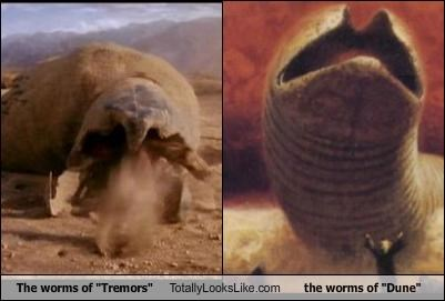 "The worms of ""Tremors"" Totally Looks Like the worms of ""Dune"""