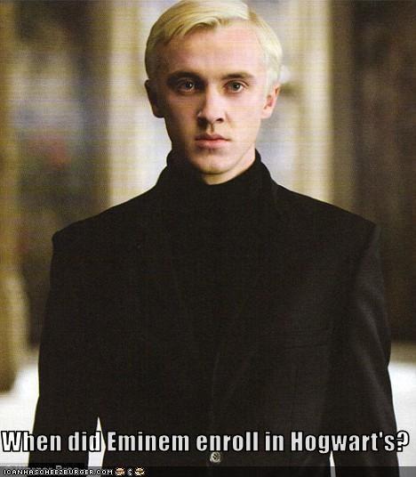 When did Eminem enroll in Hogwart's?