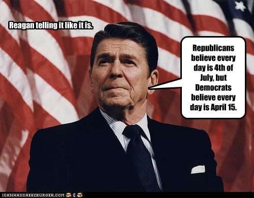 Reagan telling it like it is.