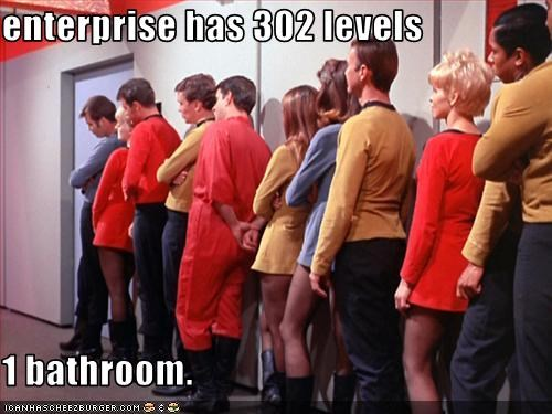 bathroom,sci fi,Star Trek,starship enterprise,waiting