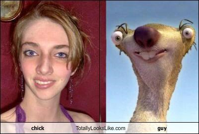 chick Totally Looks Like guy