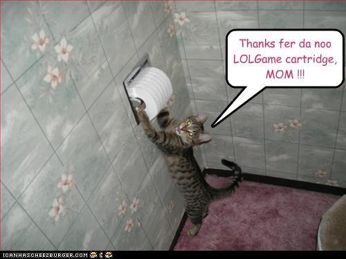 Thanks fer da noo LOLGame cartridge, MOM !!!