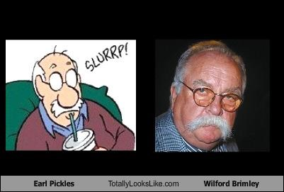 comic strips,earl pickels,mustache,pickles,wilford brimley