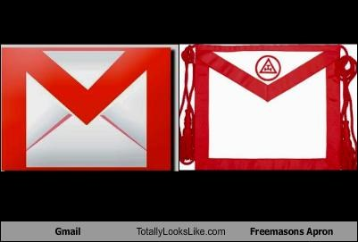 Gmail Totally Looks Like Freemasons Apron