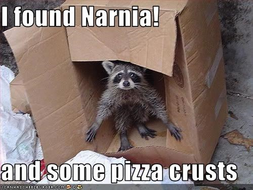 I found Narnia!  and some pizza crusts