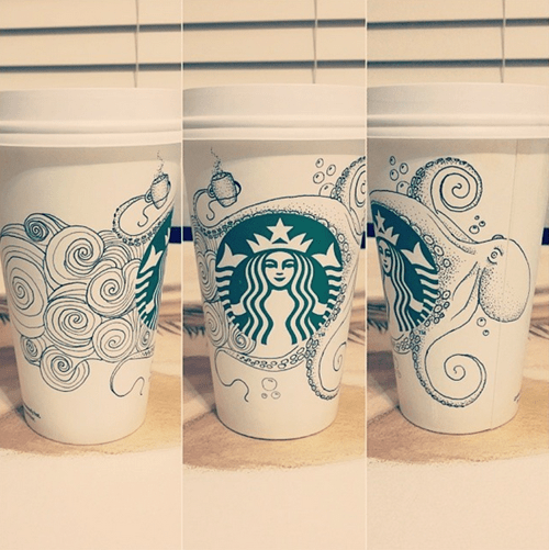Tired of Plain, Boring Starbucks Cups?