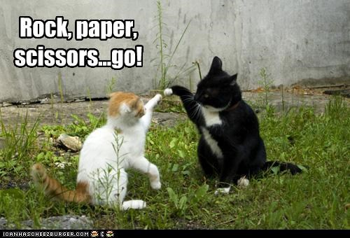 Rock, paper, scissors...go!
