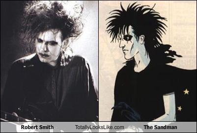 comic books,Music,neil gaiman,robert smith,the cure,the sandman
