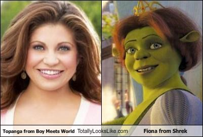 Topanga from Boy Meets World Totally Looks Like Fiona from Shrek