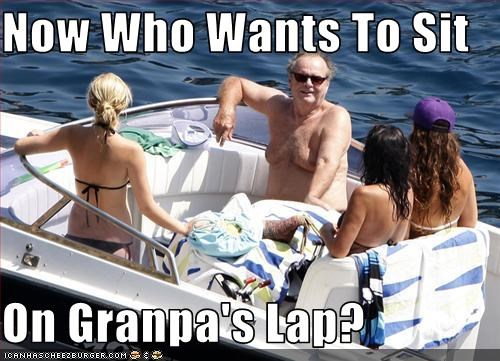 Now Who Wants To Sit  On Granpa's Lap?