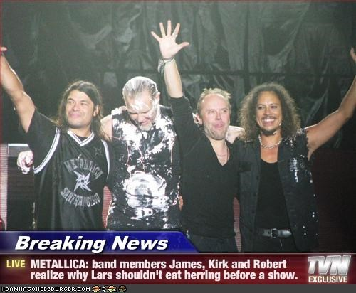 Breaking News - METALLICA  band members James  Kirk and Robert realize    Metallica Band Members