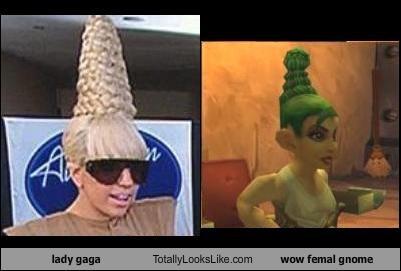 lady gaga Totally Looks Like wow femal gnome