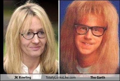 garth,jk rowling,saturday night live,TV,waynes world,writer