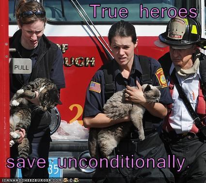 True heroes  save unconditionally.