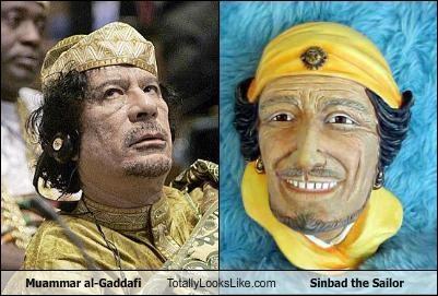 Muammar al-Gaddafi Totally Looks Like Sinbad the Sailor