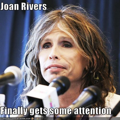 Joan Rivers  Finally gets some attention