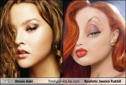 creepy,devon aoki,jessica rabbit,model