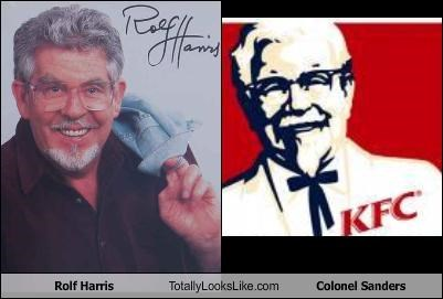 chicken,colonel sanders,host,kfc,rolf harris,singer,TV