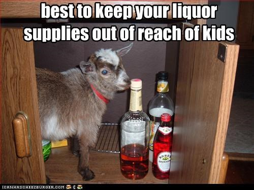 best to keep your liquor supplies out of reach of kids