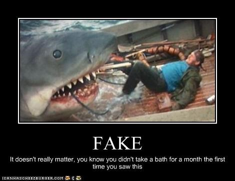 fake,horror,jaws,scary,shark