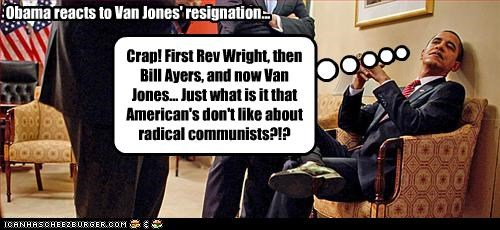 Obama reacts to Van Jones' resignation...