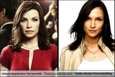 Julianna Margulies from 'The Good Wife' Totally Looks Like Famke Janssen from everything.