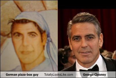 actor,food,george clooney,Germany,packaging,pizza,product