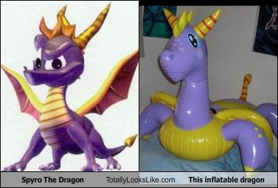 Spyro The Dragon Totally Looks Like This inflatable dragon
