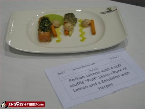 description,fish,food,g rated,herpes,lemon,puff,pure,salmon,skin,souffle
