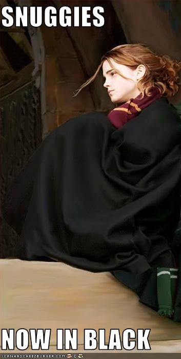 black,cape,costume,emma watson,Harry Potter,movies,robes,sci fi,snuggie