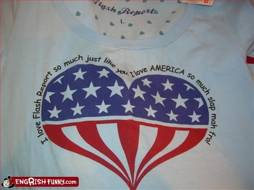 america,clothing,flash,g rated,like,love,report,T.Shirt,you