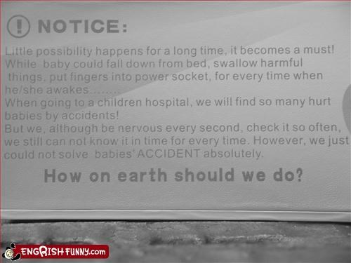 accidents,Babies,g rated,hospital,hurt,injured,nervous,notice,warning