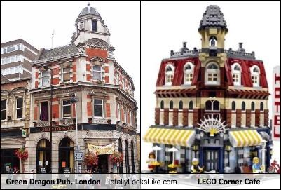 Green Dragon Pub, London Totally Looks Like LEGO Corner Cafe