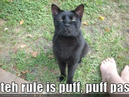teh rule is puff, puff pass, dude.