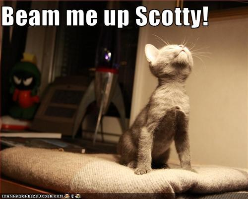 Beam me up Scotty!