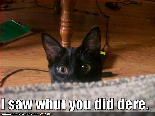 I saw whut you did dere.