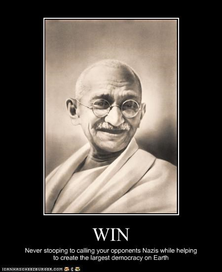democracy,Historical,india,mohandas gandhi,win