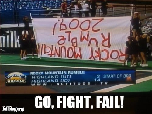 Cheerleading Run through Signs http://cheezburger.com/2638509568