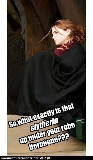 So what exactly is that    up under your robe Hermione???