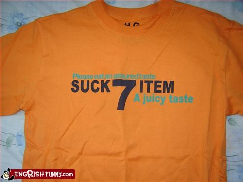 Suck 7 Item (t-shirt)
