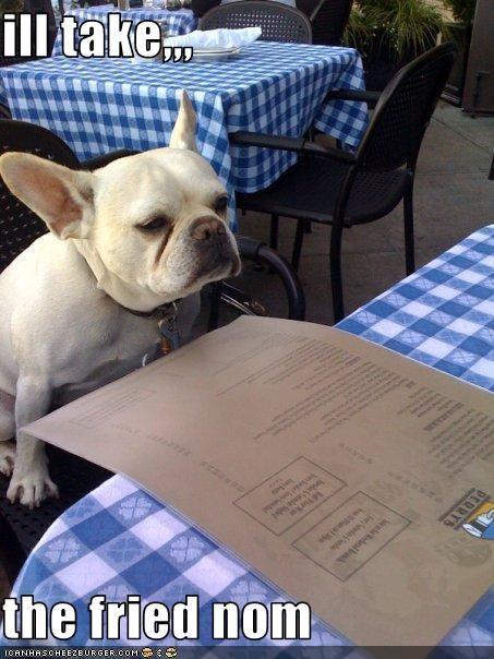 food,french bulldogs,fried food,menu,nom,restaurant