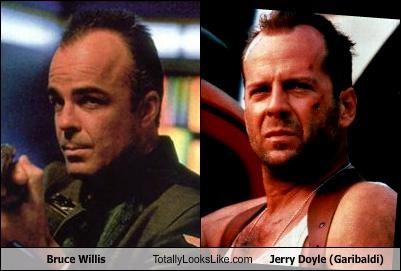 Bruce Willis Totally Looks Like Jerry Doyle (Garibaldi)